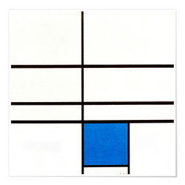 Poster  Composition with Blue - Piet Mondrian
