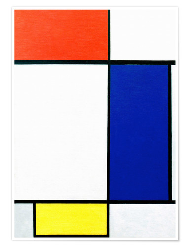 Premium poster Composition with red, yellow, blue