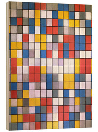 Wood print  composition - Piet Mondriaan