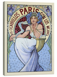 Canvas print  Los Cigarrillos Paris - Alfons Mucha