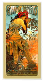 Premium poster  Carriage Dealers, Philadelphia - Alfons Mucha