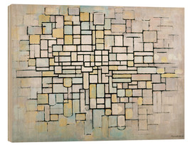 Wood print  Composition No. II - Piet Mondriaan