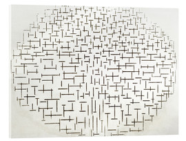 Acrylic print  Composition in Black and White - Piet Mondriaan