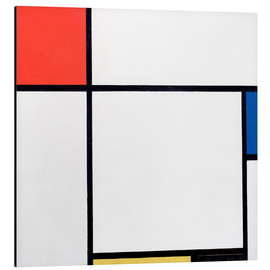 Aluminium print  Composition Red, Blue, Yellow, Black - Piet Mondriaan