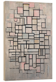 Wood print  Composition No. IV. - Piet Mondriaan