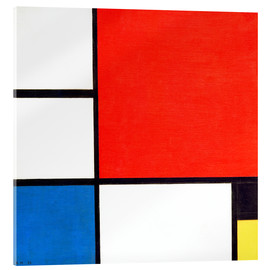 Acrylic glass  Composition II - Piet Mondrian