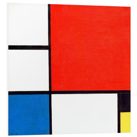 Foam board print  Composition II - Piet Mondrian