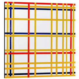 Aluminium print  New York City - Piet Mondriaan
