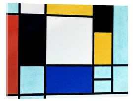 Acrylic glass  Composition Yellow Red Black - Piet Mondrian
