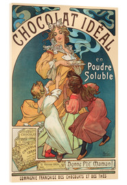 Acrylic glass  Chocolat Ideal - Alfons Mucha