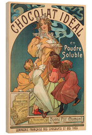 Wood print  Chocolat Ideal - Alfons Mucha