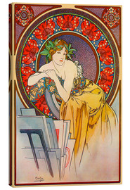 Canvas print  Woman with drawings - Alfons Mucha