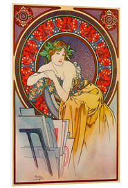 Forex  Woman with drawings - Alfons Mucha