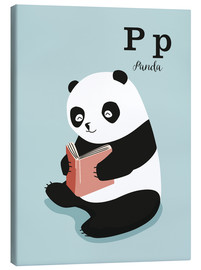 Canvas print  The animal alphabet - P like Panda - Sandy Lohß