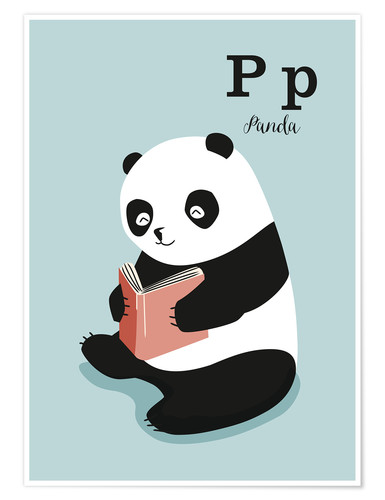 Premium poster The animal alphabet - P like Panda