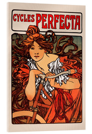 Acrylic glass  Cycles Perfecta - Alfons Mucha