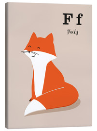 Canvas print  The animal alphabet - F like fox - Sandy Lohß