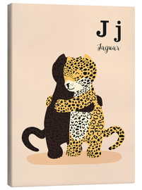 Canvas print  The Animal Alphabet - J like Jaguar - Sandy Lohß