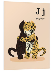 Foam board print  The Animal Alphabet - J like Jaguar - Sandy Lohß