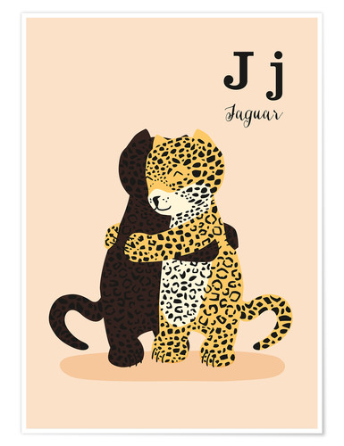 Premium poster The Animal Alphabet - J like Jaguar