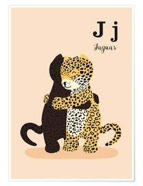 Premium poster  The Animal Alphabet - J like Jaguar - Sandy Lohß