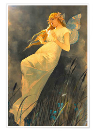 Premium poster  The Fairy - Alfons Mucha