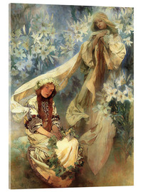 Acrylic glass  Lily Madonna - Alfons Mucha