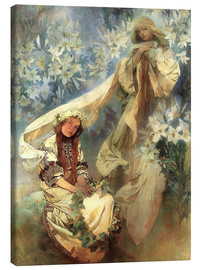 Canvas print  Lily Madonna - Alfons Mucha