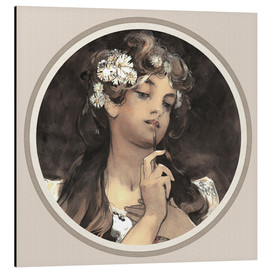 Alfons Mucha - Watercolor, gouache and pencil, detail