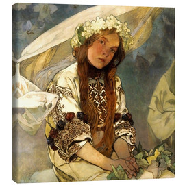 Canvas print  Madonna of the Lilies, Detail - Alfons Mucha
