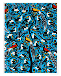 Poster  The wild bird flock by night - Saidi