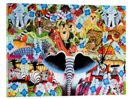 Acrylic glass  Colorful collage of Africa - Zuberi