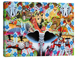 Canvas print  Colorful collage of Africa - Zuberi