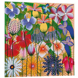 Foam board print  Flower miracle of the jungle - Wasia