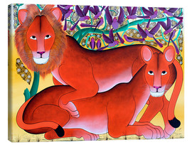 Omary - Lion lioness protecting