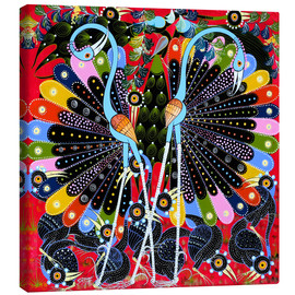 Canvas print  Peacock in courtship - Stephan