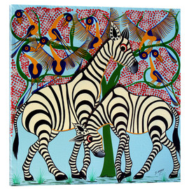 Acrylic print  Loyalty zebras under the tree - Omary
