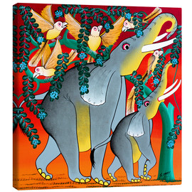 Canvas print  Eating elephants - Omary