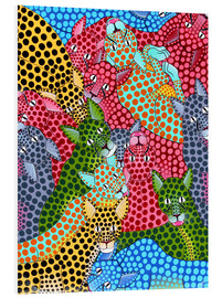 Foam board print  Colorful Cheetah meeting - Omary