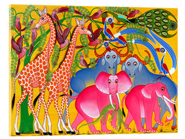 Acrylic print  Groups of animals in the bush - Omary