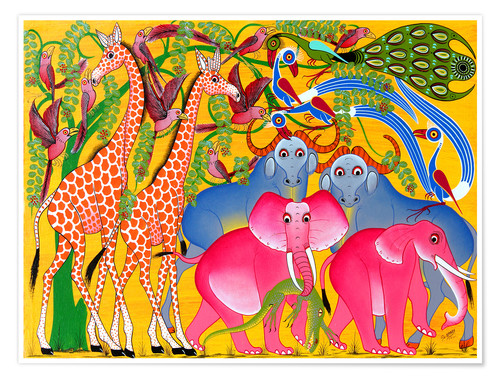 Premium poster Groups of animals in the bush