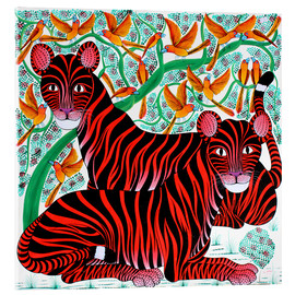 Acrylic glass  Resting big cats - Omary