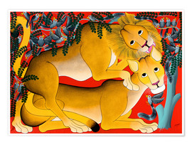 Poster  Mating with lions - Omary