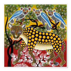 Poster  Cheetah in the bush - Mzuguno