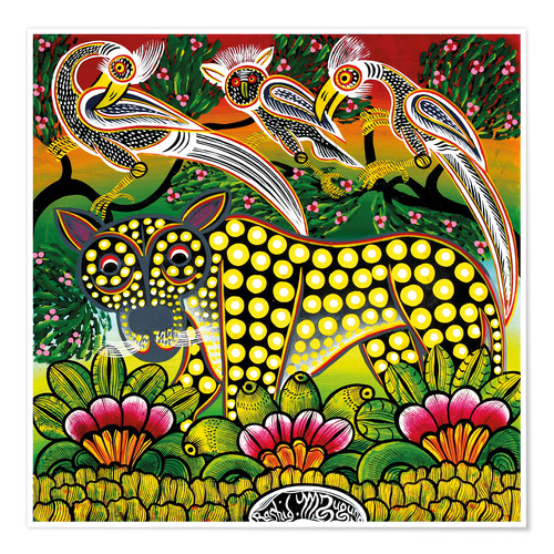 Premium poster Age leopard in the bush thicket