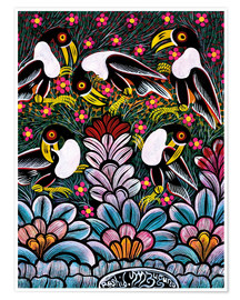 Premium poster Toucans in the foliage