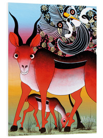 Foam board print  Antelope with child - Mustapha