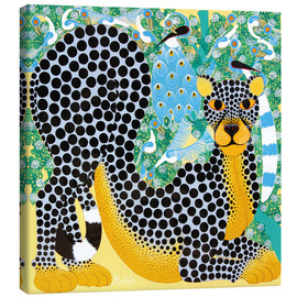 Canvas print  Delicate Leopard - Mustapha