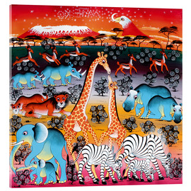 Acrylic print  Animals under the stars - Mzuguno