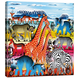 Canvas print  Animal life in Africa - Mrope